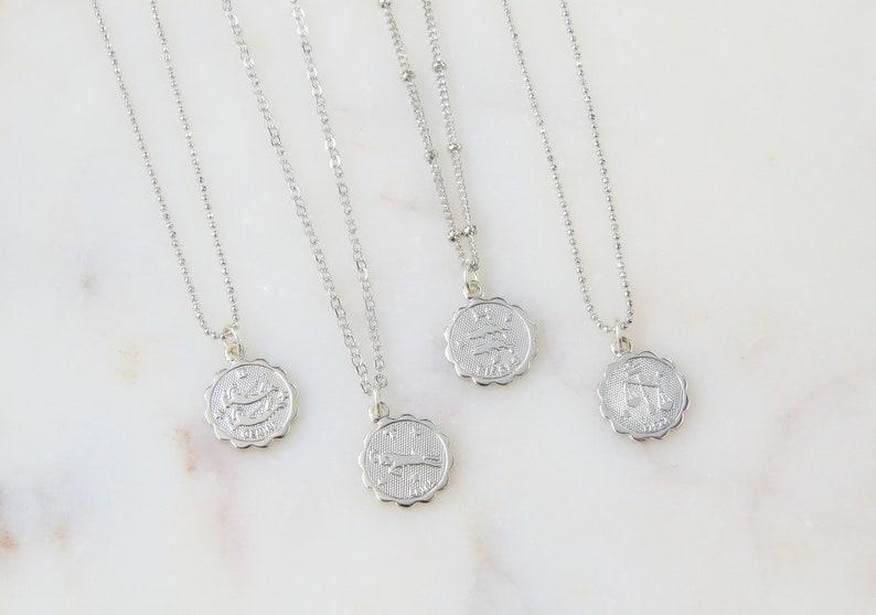 Dainty Zodiac Necklace | Zodiac Necklace | Delicate Zodiac Necklace |  Silver Zodiac Necklace | Horoscope Necklace | Celestial Jewelry