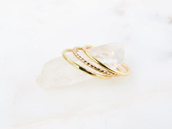 Layering Rings | Simple Gold Ring | Gold Ring | Stacking Rings | Minimalist Ring | Layered Ring | Dainty Ring |  Gift Ideas