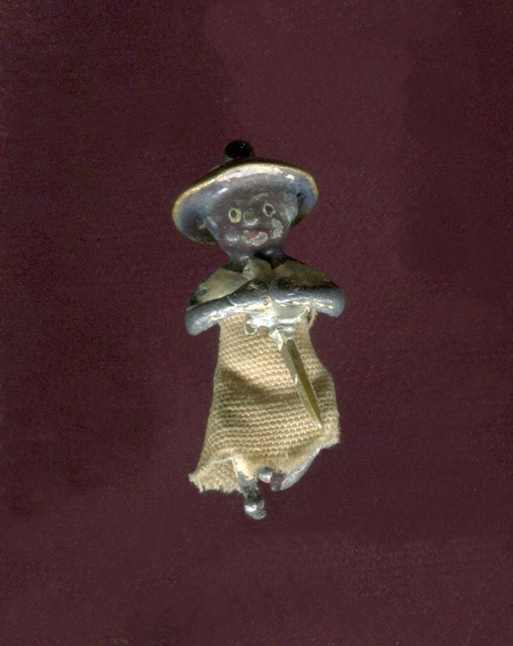 XXX Rare FIGURE with Sword- Enamel Silver & Fabric
