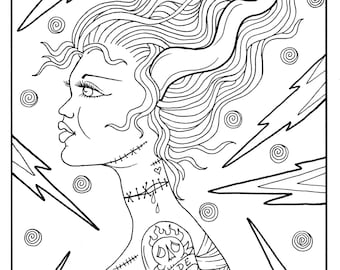 picture about Free Printable Fantasy Pinup Girl Coloring Pages known as Pin up coloring e-book Etsy