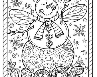 Angel Coloring Page Etsy