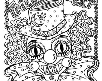 Scary coloring book | Etsy