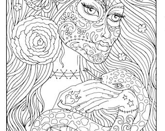 misfit 5 pages misfits creepy coloring