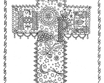 Digital Download Hymn Coloring Page It Is Well With My Soul Etsy