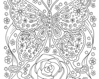 Karma Coloring Page Digital Coloring For Adults Instant Etsy