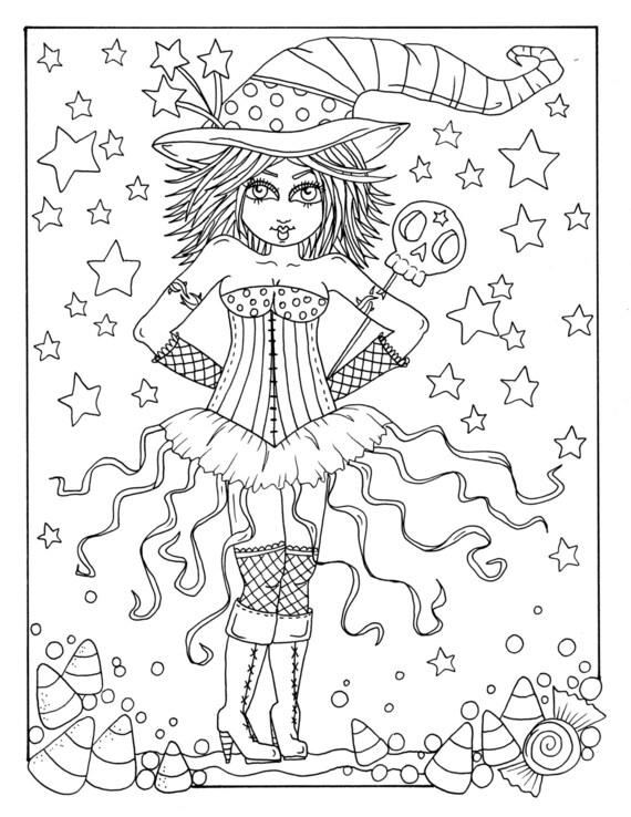 5 páginas de Brujas Sexy a Color instantánea descargar | Etsy