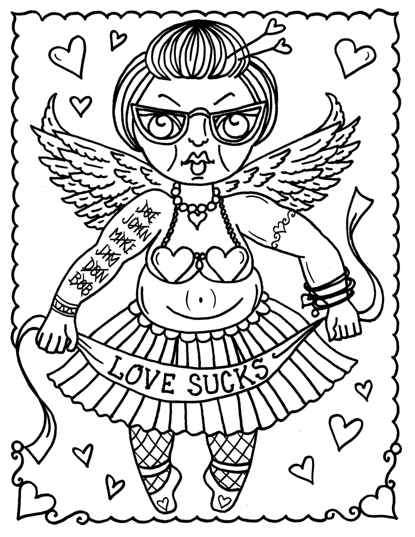 5 Seiten digitale alt mürrisch Funny Valentines. JPG Dateien | Etsy