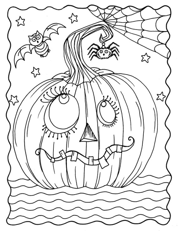 GOOFY Pumpkin coloring page digital download instant