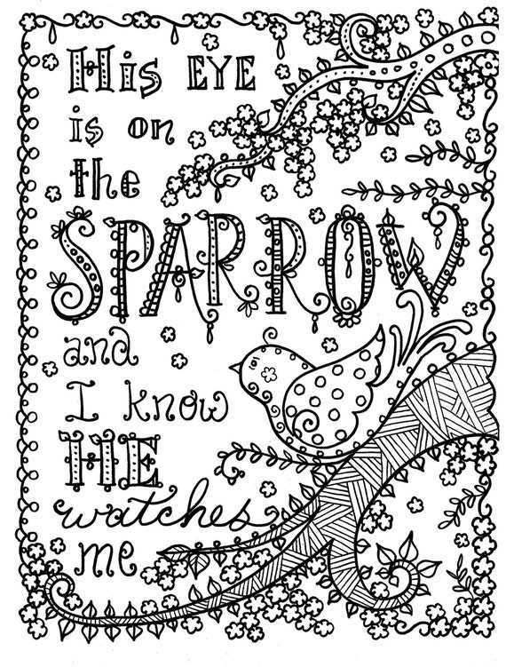 Hymn-spiration 4 coloring pages Instant Dowload Art to ...