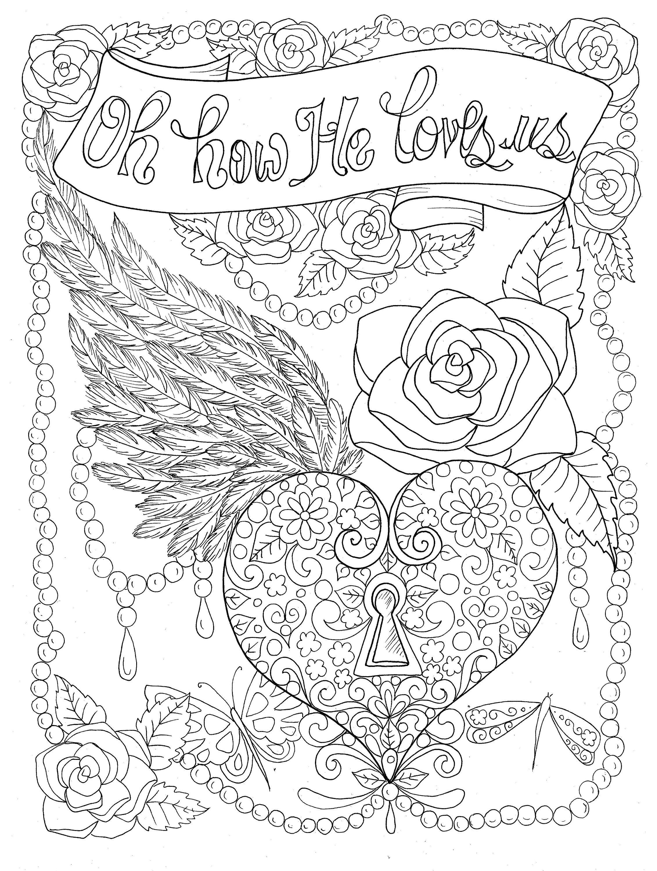free christian coloring pages of a heart | Christian Worship coloring page Instant download/church ...