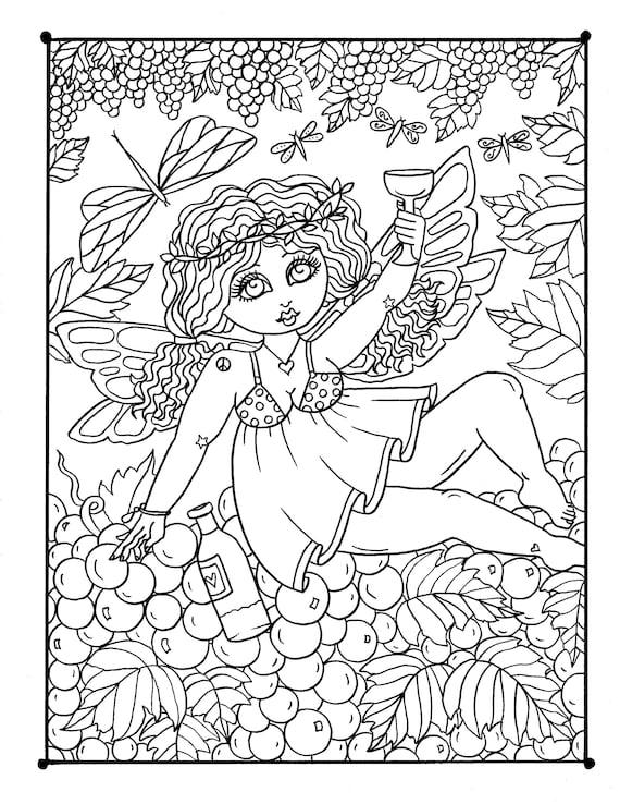 CHUBBY FAIRIES Digital Coloring Book, fairy coloring pages, fairy coloring  fun, fairies, woods, fantasy, magic