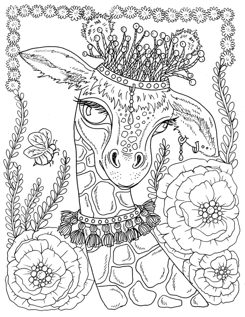 Digital Download Spring Animals To Color Instant Download Etsy