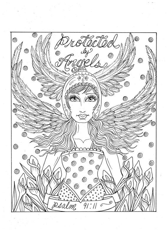 Engel Download instant Malvorlagen Christian Art Schrift   Etsy