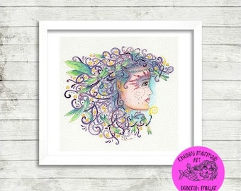 Fairy and Dragonfly Download wall Art, printable art, instant downloads, printables, fairy prints, fairy art, fairy wall art