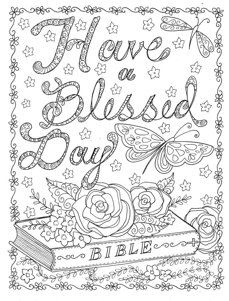 Bijbelse Kleurplaten Pasen.Instant Download Kleurplaat Aan Kleur Christelijke Etsy