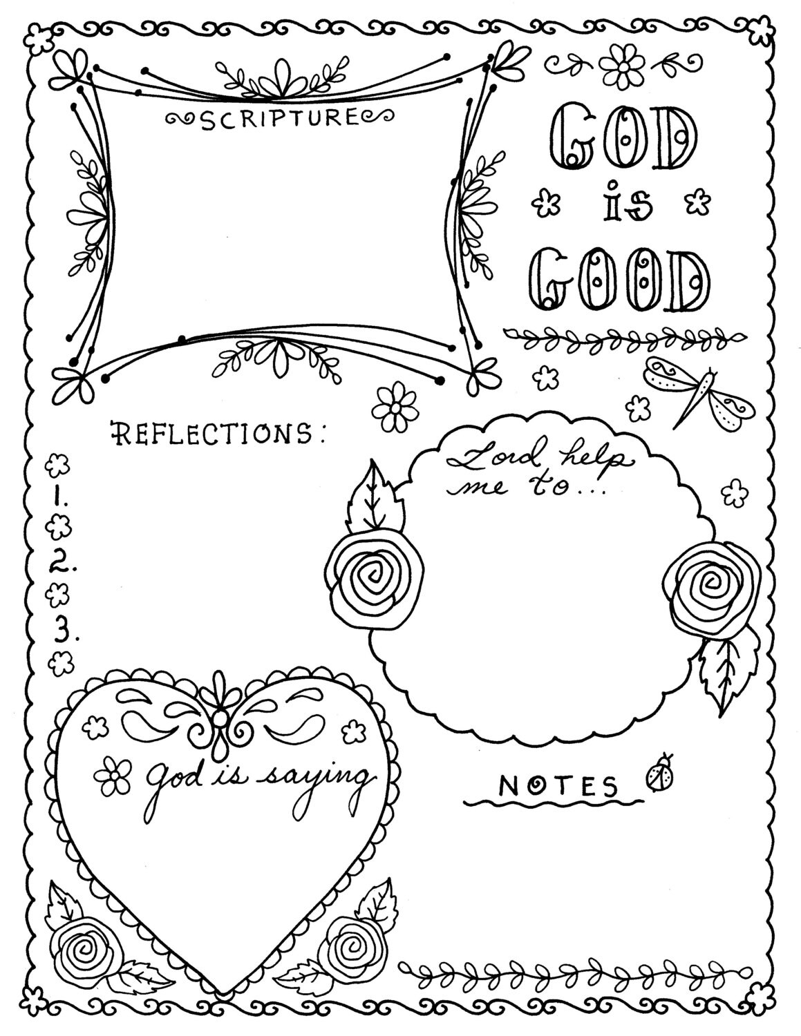prayer journal coloring pages - photo#11