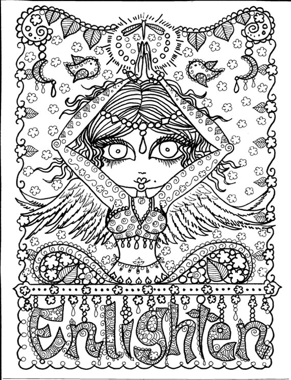COLORING BOOK YoGa Zentangle style Coloring Book for you to | Etsy