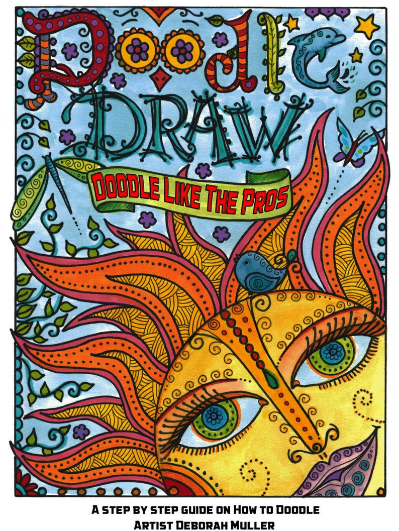 How To Doodle Draw Like The Pros Learn Step By Step How To Etsy
