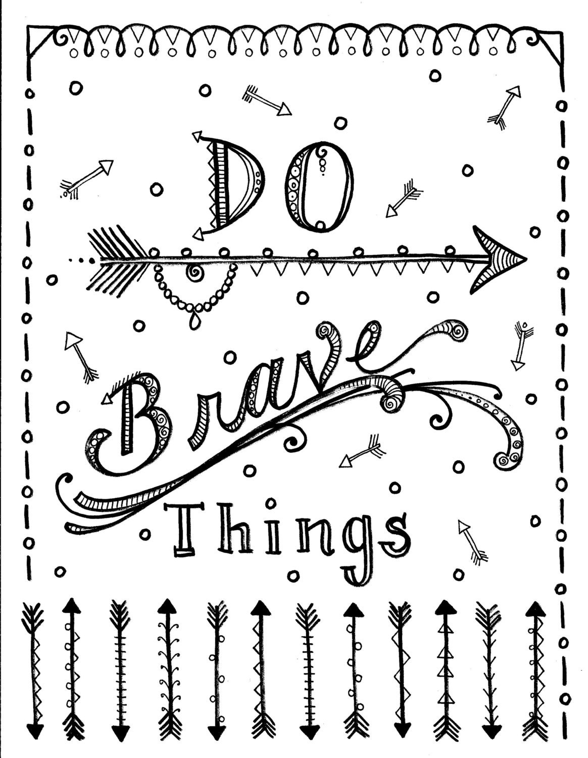 Instant download Be Brave arrows