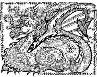 Karma Coloring Page Digital Coloring For Adults Instant