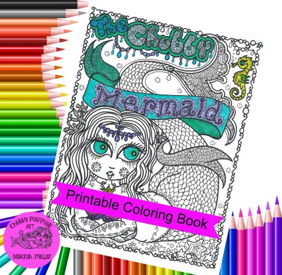 instant download chubby memaid coloring book adult coloring digital coloring digi stamp color pages digital coloring pages