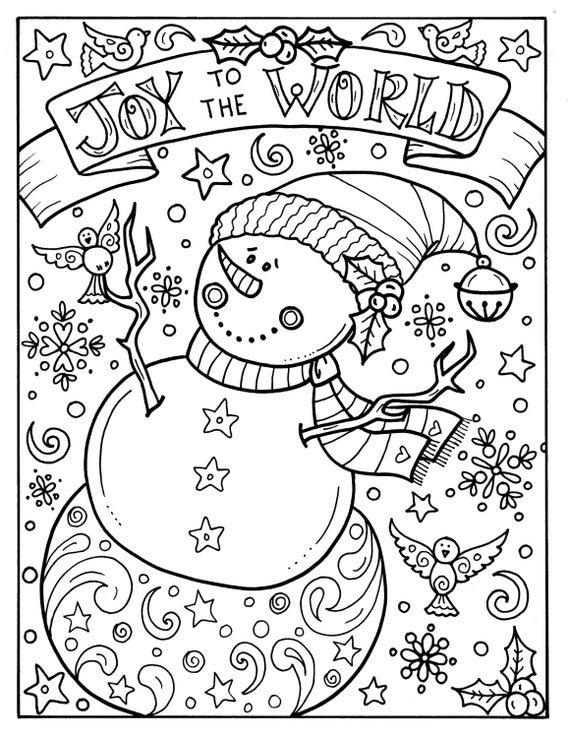 Snowman Joy to the world digital download Christmas ...