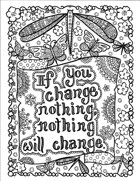 5 pages Instant Download Be BrAvE Coloring Book Inspirational   Etsy