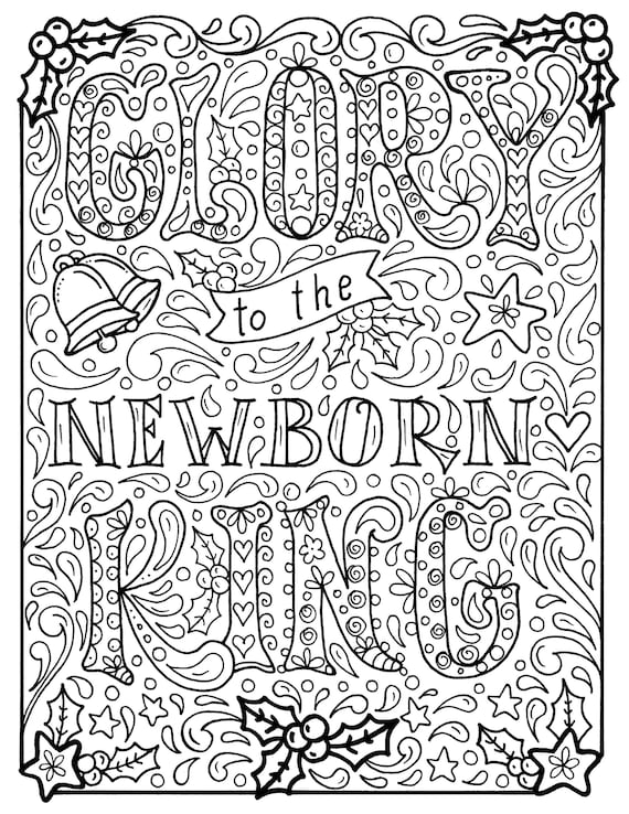 Christian Christmas Coloring page Church Scripture Bible ...