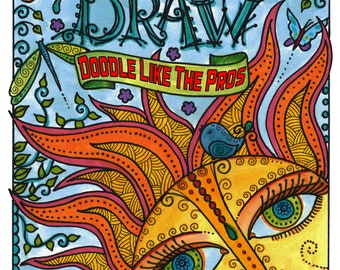 Learn how to Doodle Draw Instant download Book zen doodle, zentangle, doodling, how to doodle, how to draw