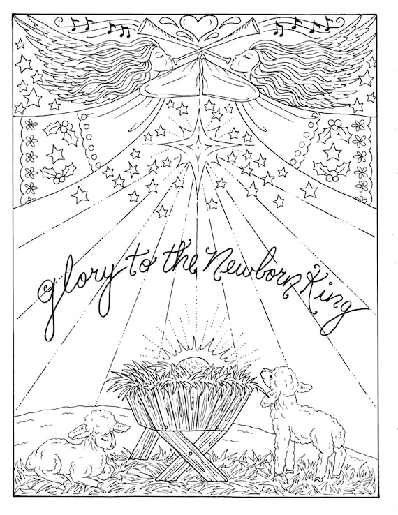 Bible Christmas Coloring Pages - Coloring Home | 738x570