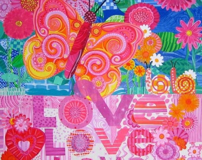 Love, Love, Love 12x12 Print