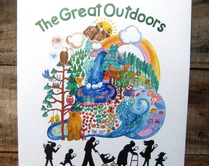 The Great Outdoors Print 11x14