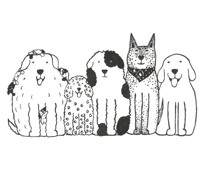 Dogs in a Row Print