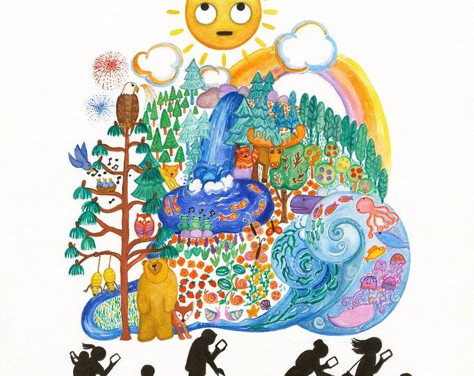 Summer! Print, 11x14