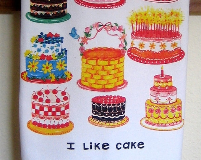 CAKE Kitchen Towel, I Like Cake