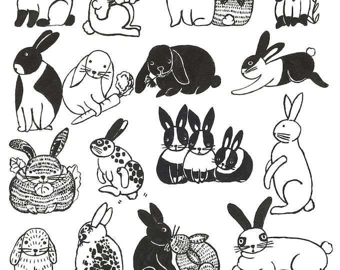 Bunnies 11X14 Print