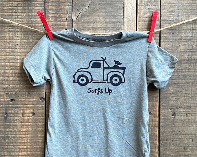 Surf's Up! Tri Blend Baby and Kids T Shirt