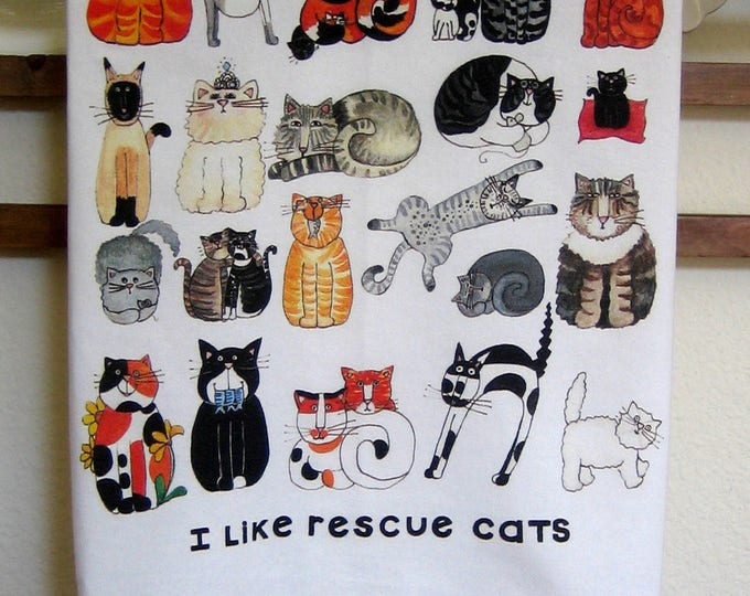 Rescue Cats Kitchen Towel