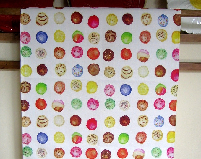 Ice Cream Print Linen Canvas Kitchen Towel