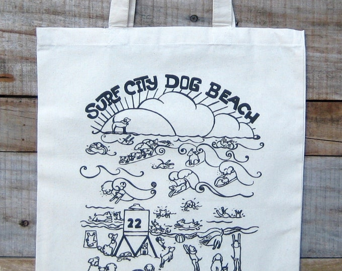 Dog Beach Tote Bag
