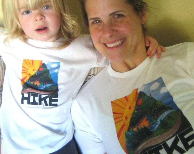 Hiking T Shirt, Adult, Kids, Outdoors Family Tee
