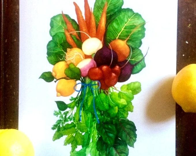 Kitchen Print Vegetables Bouquet Watercolor