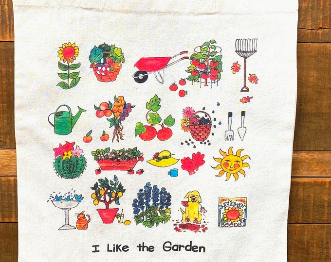 I Like the Garden Cotton Market Tote