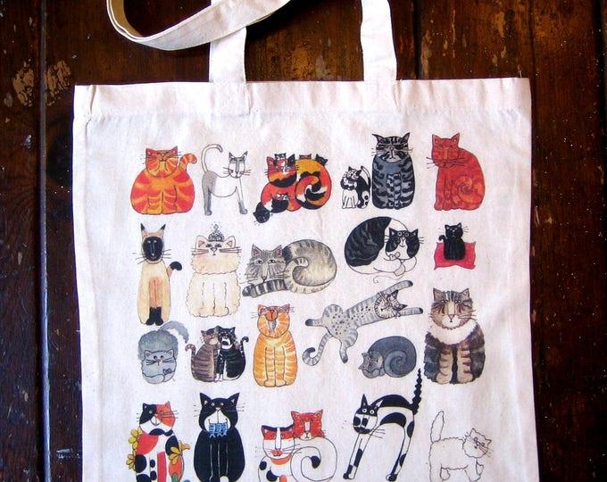 Rescue Cats Cotton Market Tote Bag