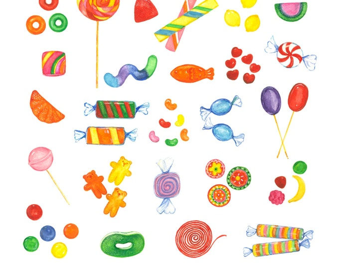 Candy Print 12X12