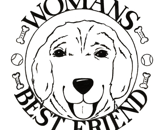 Womans Best Friend Print 12X12