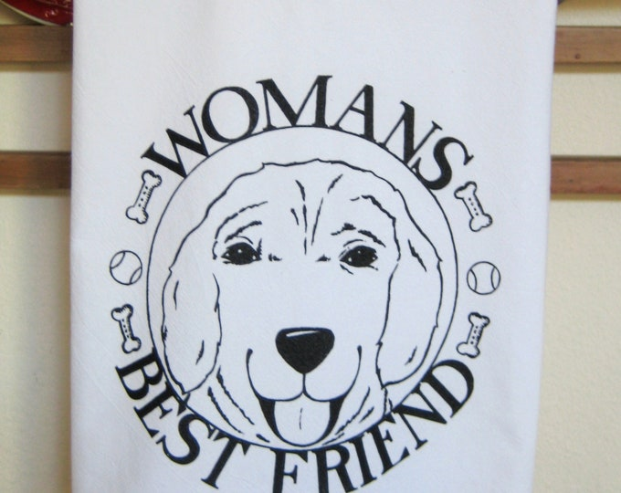 Womans Best Friend Kitchen Towel