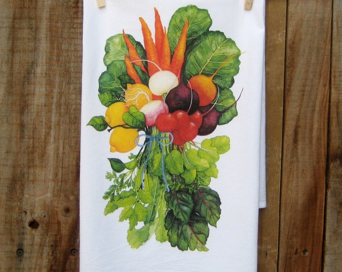 Vegetable Bouquet Kitchen Towel