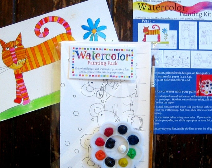 Kids Watercolor Painting Kit - Pets