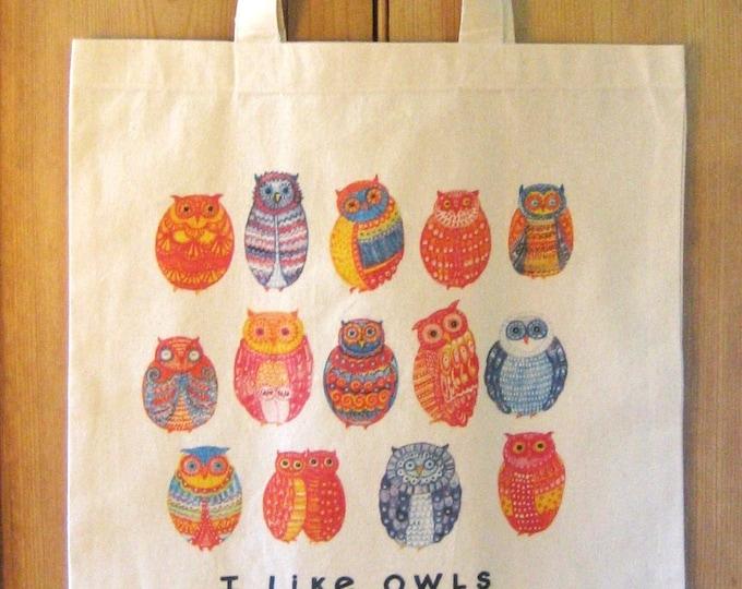 Market Tote I LIKE OWLS
